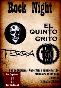 Rock Night Terra El Quinto Grito DaTribo De:Mente