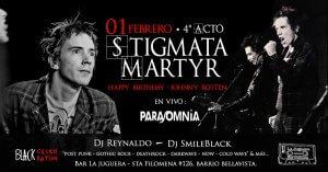 Stigmata Martyr vol. IV Fiesta Postpunk Cumpleaños Johnny Rotten
